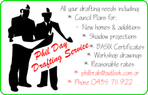 Phil Day Drafting Services Logo (White Background)